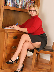 best of Mature Glasses wife redhead librarian