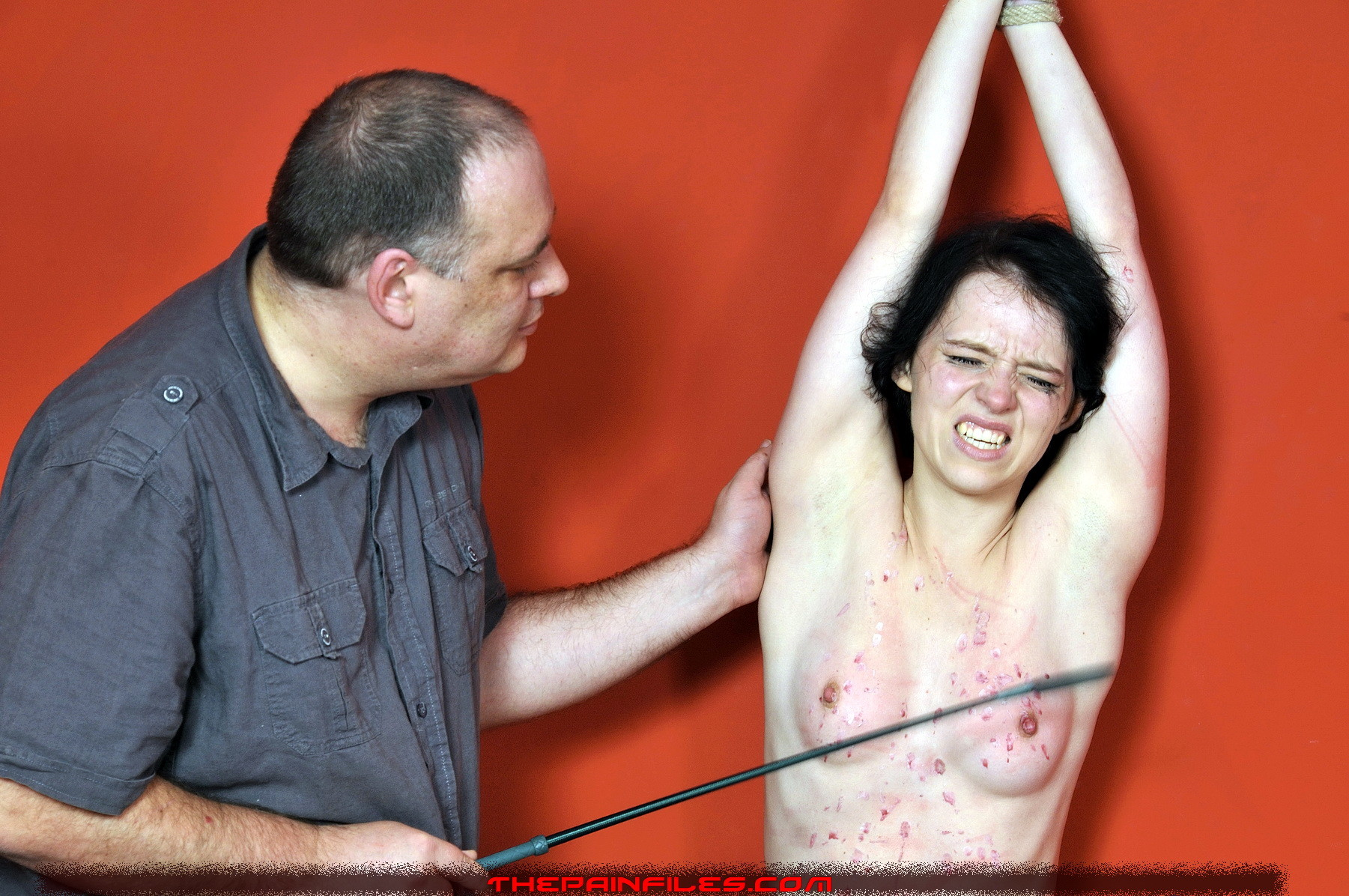Manager recomended tit torture whipping
