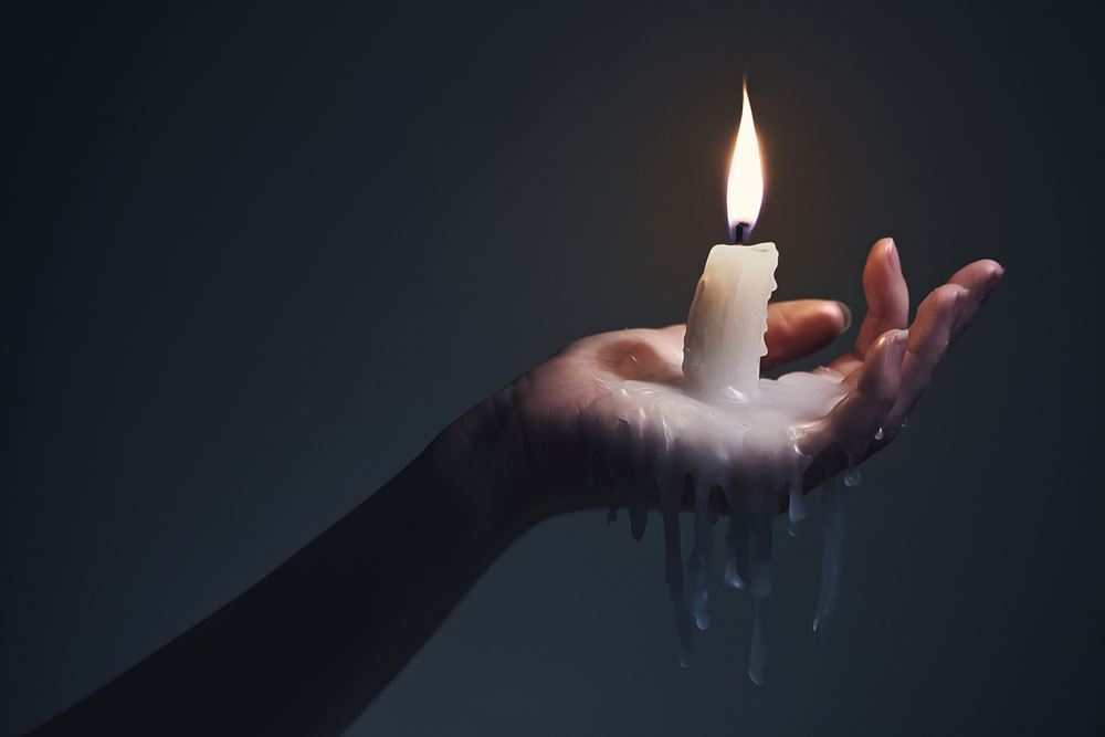 Candle wax bdsm torture
