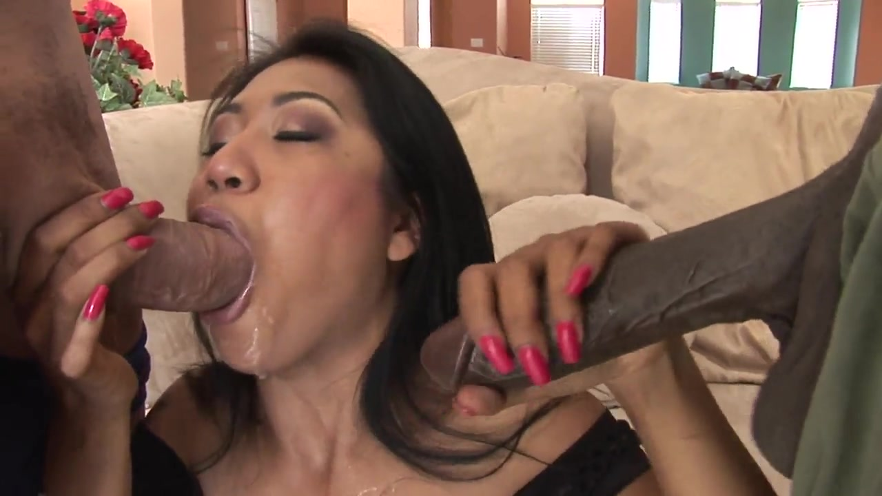 Asian slut double penetration