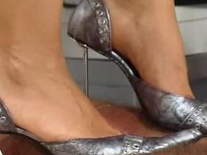 High heel hand trample