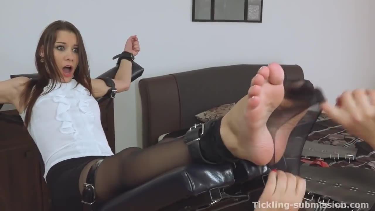 Bondage feet tickle