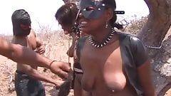 FLAK reccomend ebony slave blowjob penis outdoor