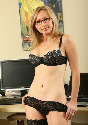 best of Secretary mature Glasses wife redhead
