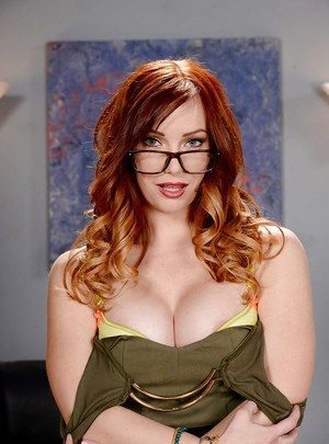 Versace reccomend Glasses redhead mature secretary wife