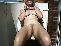 Masturbating balcony