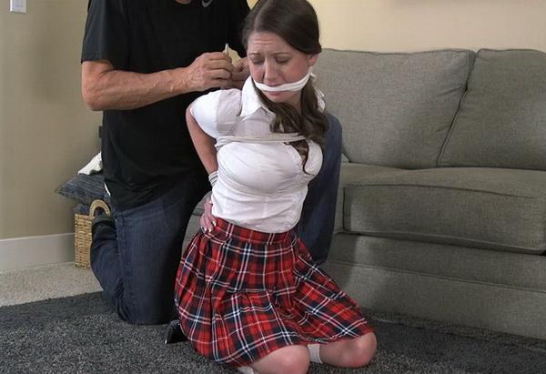 Schoolgirl hogtied